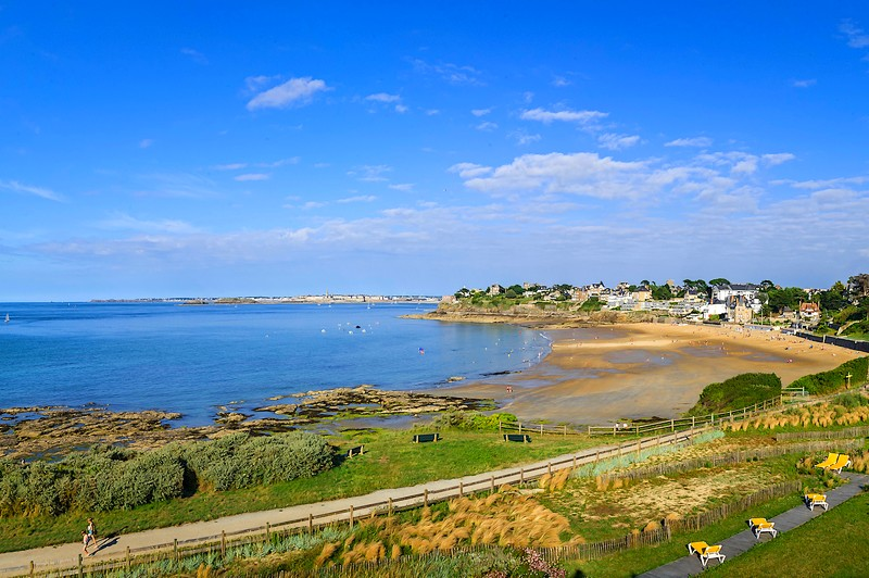 Saint-Malo vue de Dinard